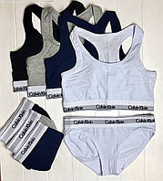 Женский комплект Белья Calvin Klein: топ и плавки - 4 цвета
