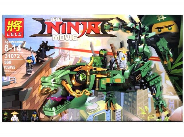 Конструктор Lele 31072 Ninja Movie Зеленый дракон 568 дет