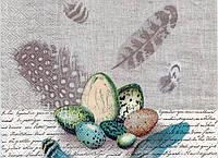Салфетка для декупажа Яйца в клетке, 33х33 см