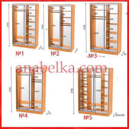 Шкаф купе  1700*450*2150 (Анабель), фото 2
