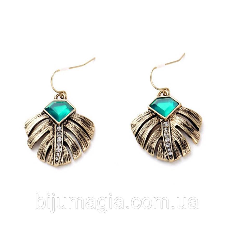 Сережки ювелірна біжутерія бронза 4316-б