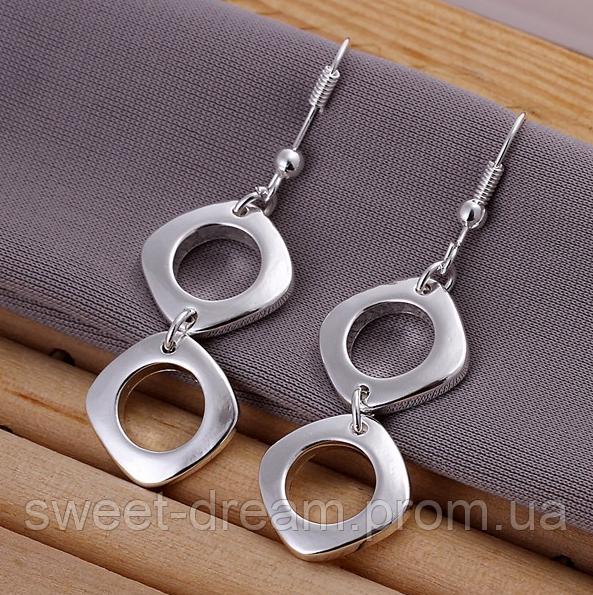 Наилучшее качество. Посеребренные 925 серьги для женщин, ювелирные изделия  из стерлингового серебра - Модный 97b25d1f402