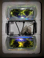 Додаткові фари протитуманні DLAA 555 RY райдужно-жовті, 2 шт!, фото 1