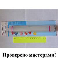 Скалка пластиковая цельнолитая с ограничителями 220/26 мм