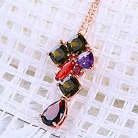 Подвеска кулон с цепочкой ювелирная бижутерия позолоченный 433-а, фото 1