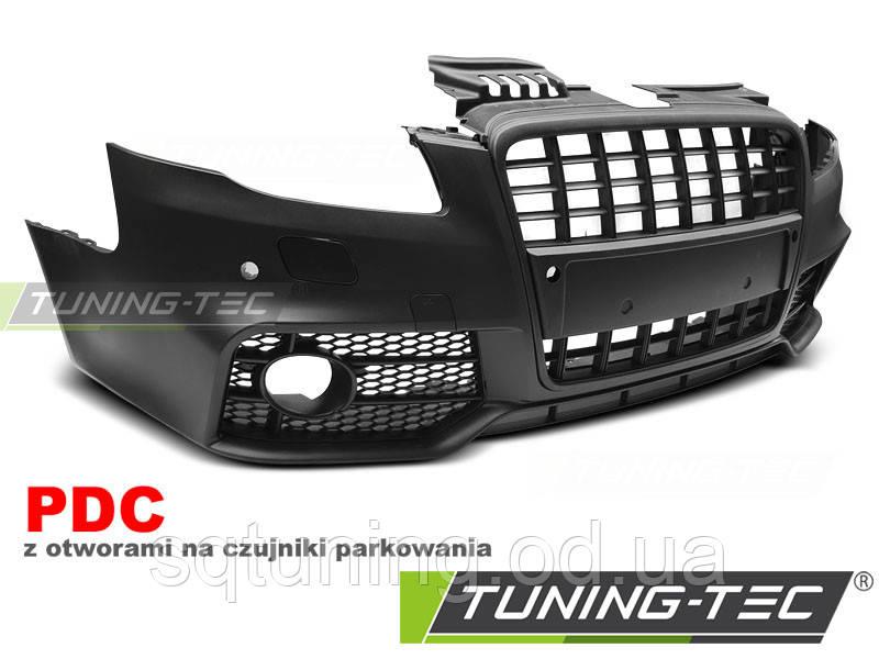 Бампер передний AUDI A4 04-08 S-LINE BLACK PDC