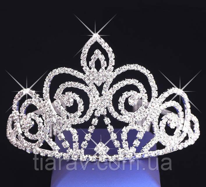 Диадема тиара для волос Келли Тиара Виктория корона высокая диадемы