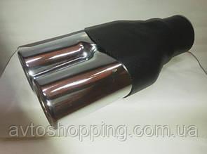 Насадка двойная на глушитель, выхлопную трубу 60 мм