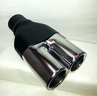 Подвійна Насадка на глушник, вихлопну трубу 50 мм, фото 1