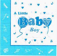 """Салфетки бумажные """"Baby голубой"""" 20шт/уп"""