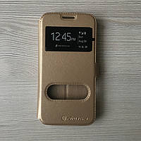Золотой чехол книжечкой Nilkin для Samsung S7 на магните
