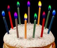 Свечи в торт Цветное пламя 10шт