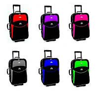 Дорожный чемодан на колесах RGL 773 с выдвижной ручкой Тканевый 5 колес Средний