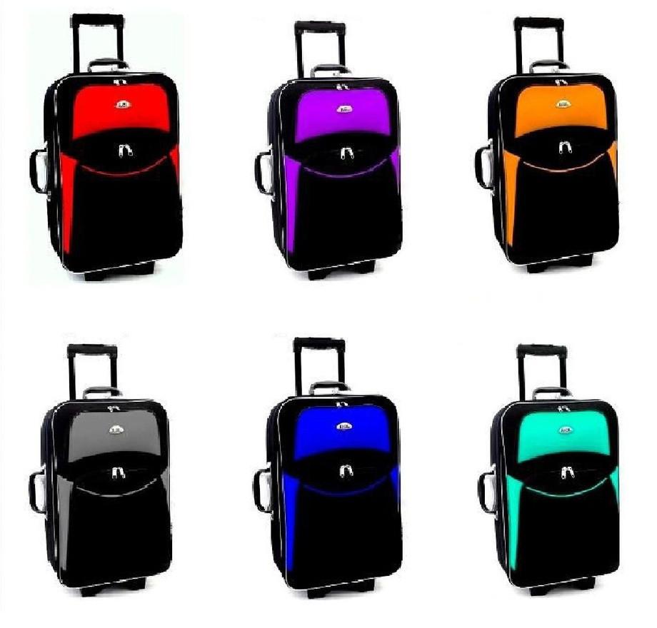 Дорожный чемодан на колесах RGL 773 с кодовым замком Тканевый 5 колес Большой