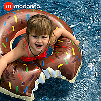Modarina Надувний круг Пончик 90 см шоколадний