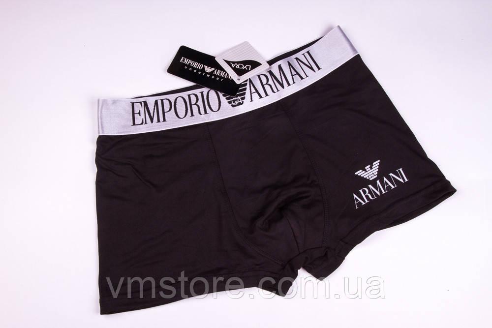 Трусы мужские в стиле бренда Emporio Armani, черный, L (48)