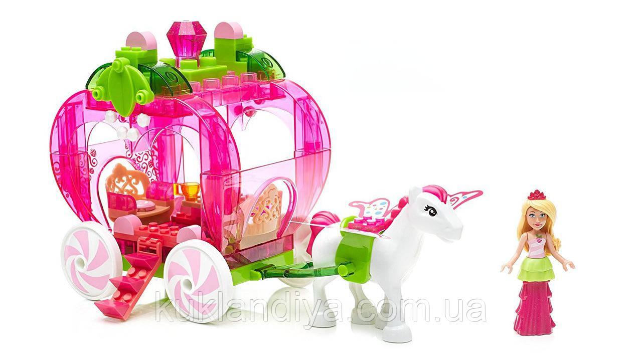 Конструктор Барби Дримтопия карета-клубничка - Mega Bloks Barbie