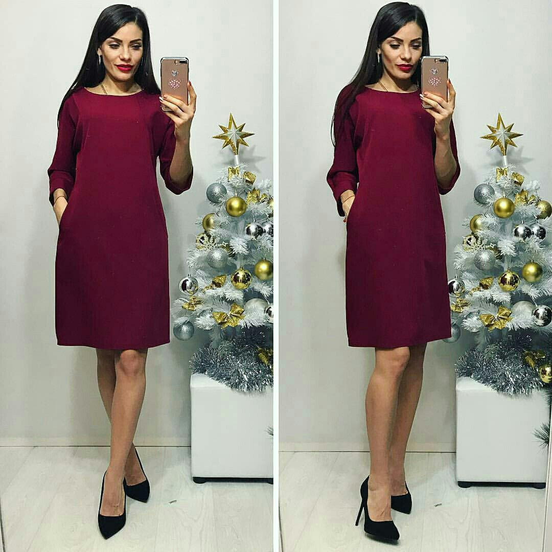 Платье, модель 772, цвет - марсала