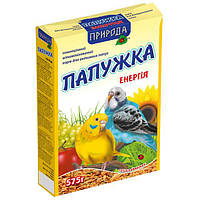 Природа Папужка энергия полноценный корм для молодых волнистых попугаев, 575г