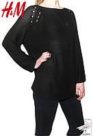 Женский джемпер черный H&M свитер р. М 46-48