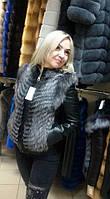 Хит сезона! Зимняя куртка из кожи с мехом чернобурки