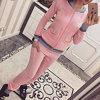 Вязаный спортивный костюм Полоски розовый, фото 1