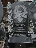 """Памятник из гранита """"Форма с 4-мя розами"""" с установкой в г. Днепр!"""