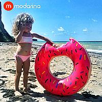 Modarina Надувной круг Пончик 90 см розовый, фото 1