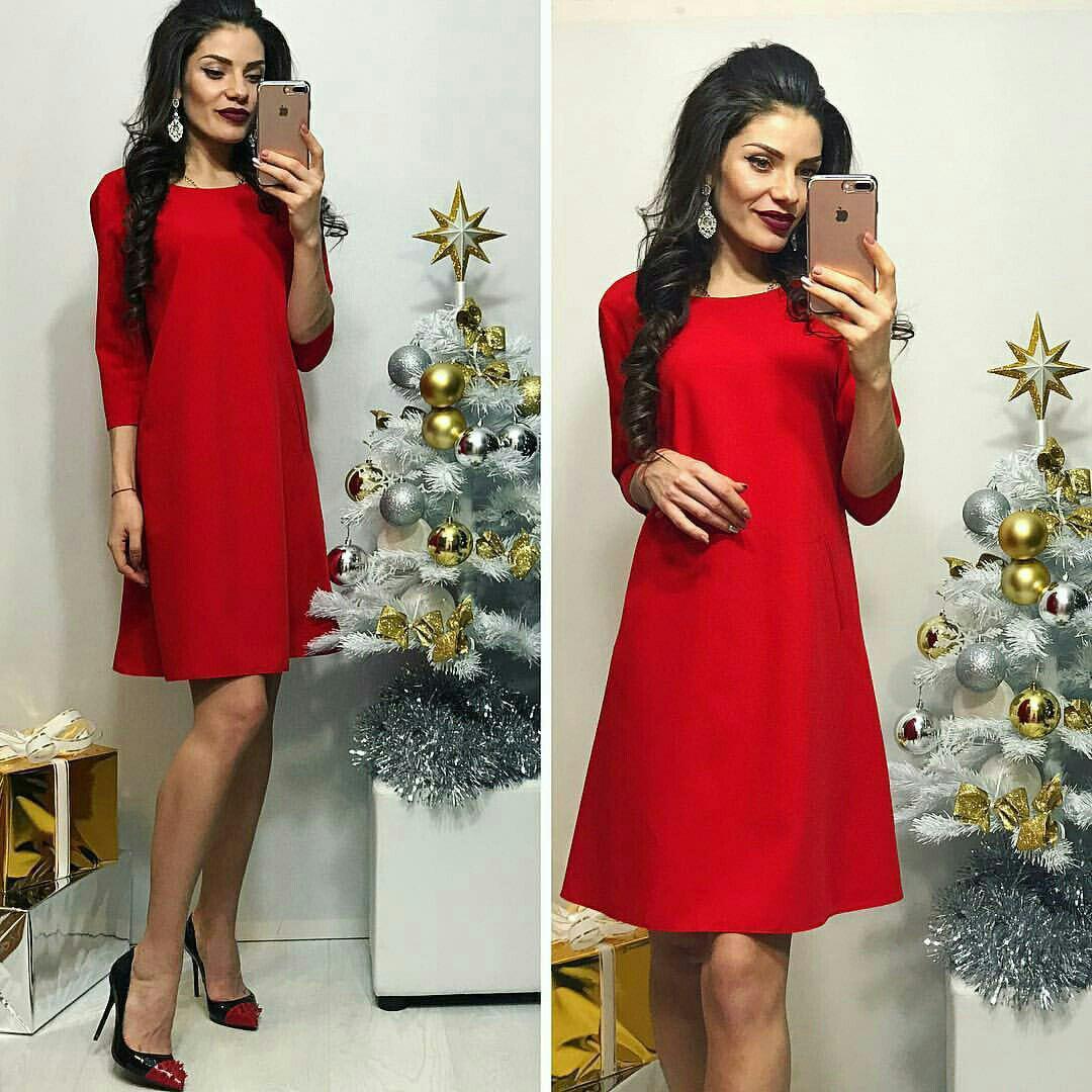 Платье, модель 769, цвет - красный, 42 размер