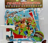 Бумажная гирлянда С Днём рождения Майнкрафт