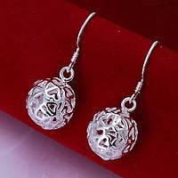 Сережки крапельки ювелірна біжутерія сріблення 1522, фото 1
