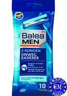 Одноразові станки для гоління 2 леза Balea Doppelklingen Einwegrasierer, 10 St