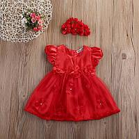 Нарядное платье  с повязочкой размер 86., фото 1