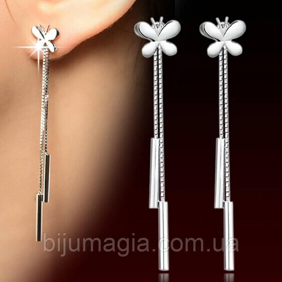 Висячі сережки ювелірна біжутерія сріблення 155