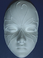 Гипсовая ажурная маска №2, заготовка