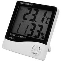 Цифровой термометр, гигрометр, часы HTC - 2