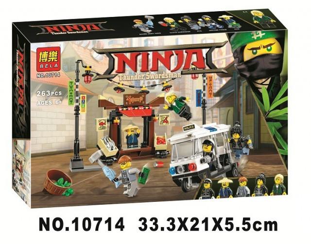 Конструктор Bela 10714 Ninjago Movie Ограбление киоска в Ниндзяго Сити 264 дет