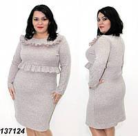 Платье ангора-меланж, с оборками 50,52,54,56, фото 1