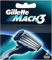 Сменные кассеты для бритья Gillette Mach 3 2 шт
