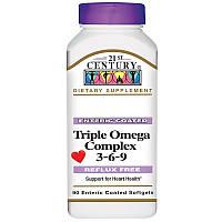 Омега 3-6-9 комплекс, Omega 3 6 9, 21st Century, 90 капсул
