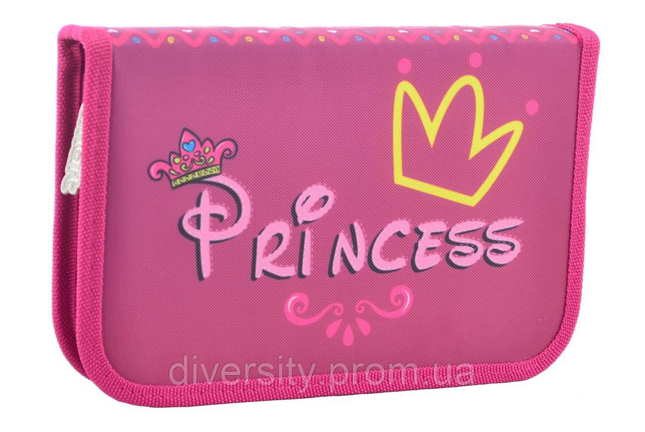 """Пенал твердый одинарный с клапаном  """"Princess"""", серия Smart"""