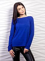 Оригинальный мягкий свитер в стиле минимализма с длинным рукавом