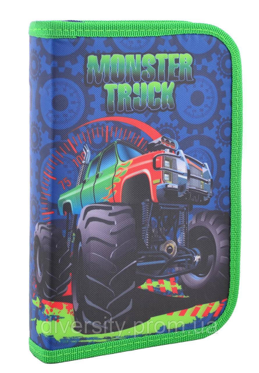 """Пенал твердый одинарный с клапаном  """"Monster truck"""", серия Smart"""
