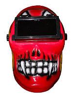 Зварювальна маска відкидне скло Череп, фото 1