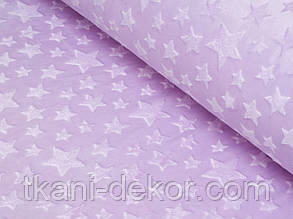 Плюшевая ткань Minky лиловые звезды