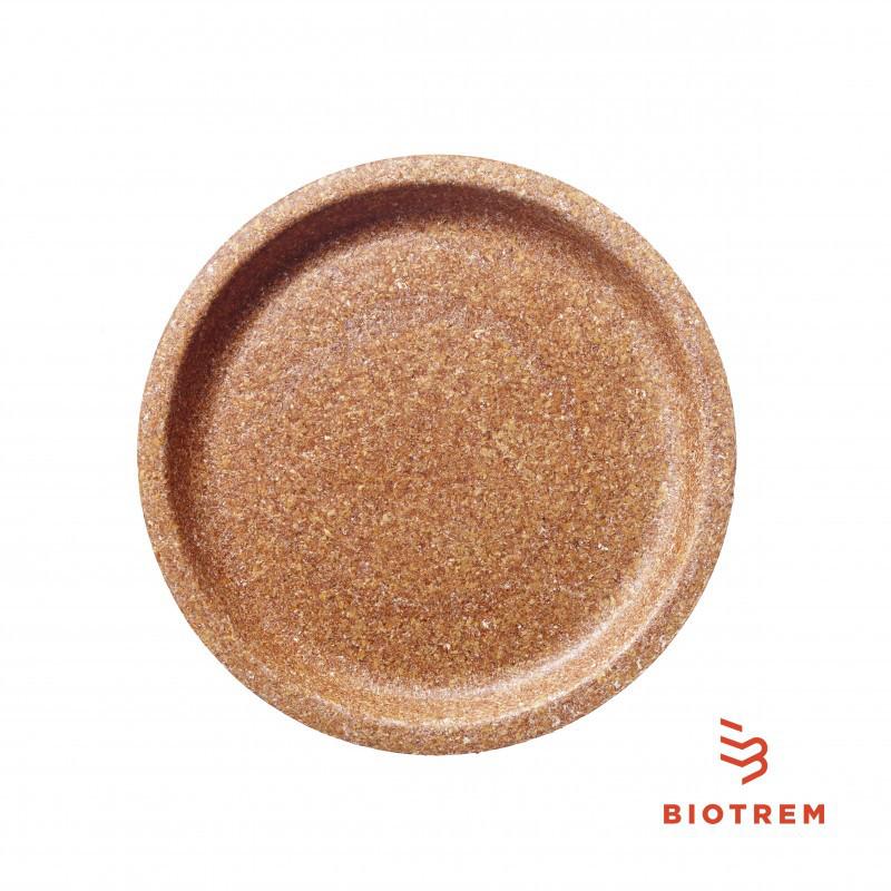 Тарелка одноразовая из пшеничных отрубей BIOTREM 24 СМ ЕКО уп.50шт