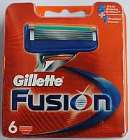 Сменные кассеты для бритья Gillette Fusion 6 шт