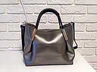 """Стильная женская повседневная сумка """"Алина Silver"""", фото 1"""