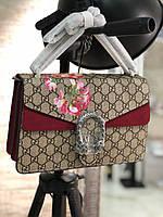 Женская сумочка Gucci DIONYSUS BAG LUX цветы (реплика), фото 1