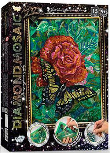 Алмазная живопись мозаика по номерам на холсте 20*30см DankoToys DT DM-02-08 Бабочка